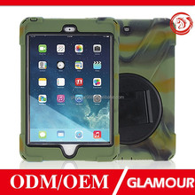 heavy duty military tablet cover case for ipad air 2 with 360 rotating kidstand