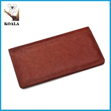 high quality genuine real leather passport ticket holder, ticket wallet