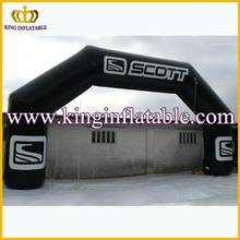 Black Rectangular PVC Continous Inflatable Archway, Inflatable Advertising Arch Gate