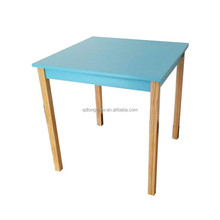 Latest design colorful Square solid wooden children play table