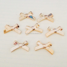 Fashion Trendy Blue bowknot Resin Bead Wholesale Cheap Bow For Bra accessory