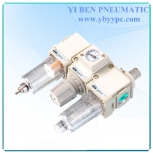 Hot sale Pneumatic F.R.L. three union air filter combination