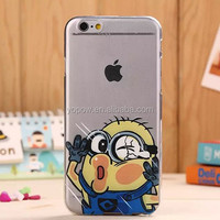 Mobile phone cover for iphone 5/5S 6 6Plus Hot sale cartoon face hit the glass funny tpu case