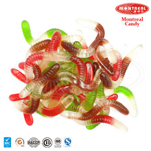 Colourful gummy worms candy