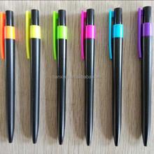 New model creative promotional black silver plastic ball pen