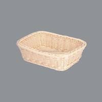 Wholesale rectangular hand made wicker bread baskets,rattan storage basket