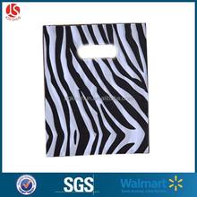 20x15cm Christmas Party Supplies Shopping bag Plastic Gift Bag Zebra Stripe die cut bag