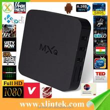 factory amlogic s805 mxq pre-installed Kodi android tv box amlogic s805 mxq