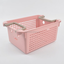 PP Plastics storage baskets with handle MSD045