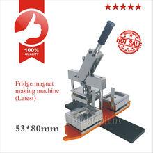 2015 china factory 53X80mm fridge magnet machine/rectangle magnet badge making machine