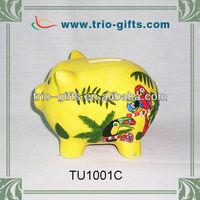Cute ceramic piggy bank for souvenir gifts
