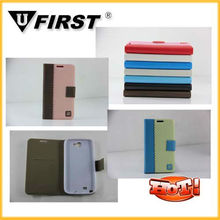 For samsung galaxy note 2 leather case,N7100 note 2 case