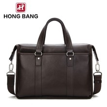 Genuine leather briefcase , men shoulder bag laptop bag custom