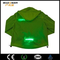 sport winter led safety fluorescent jacket