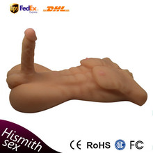54*30*14CM TPR 7KG Wholesale Silicone Gay Sex Doll with Breast and Huge Penis