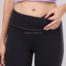2015 China Running Sports Fitness Women/Ladies Black Gym Pants