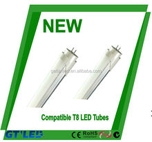 electronic ballast &magnetic ballast compatible t8 led tube one end/double end power input