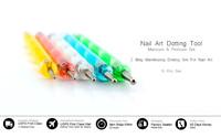 Manicure Tools Painting Pen Nail Art Paint Set Marbleizing Dotting Pen