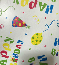 Birthday wrapping paper Birthday gift paper package colorful printing