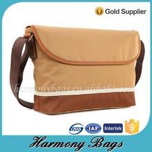 Brown microfiber vintage design 2015 messenger bags for men