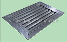 Opened return air grille in stainless steel material for air conditioning