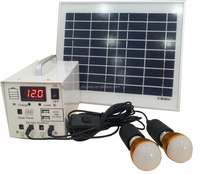 NEW ! ! ! 12v 7ah battery 10a 10w solar system for home with display screen clients show interests on Hongkong Electronic Fair