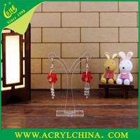 Fashion simple earrings display stand acrylic/Box store counter display rack lucite/Jewelry shooting props perspex