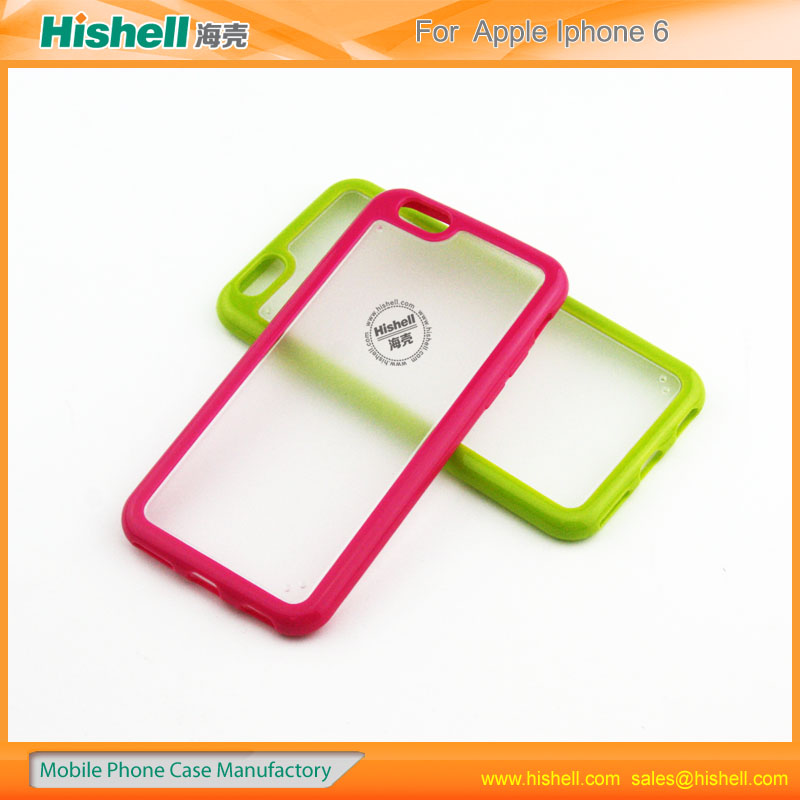 Made in china Manufacture PC and TPU mobile phone case cover for iphone6