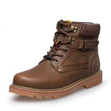 Fashion high quality genuine leather men autumn boots