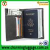 RFID blocking id card holder travel leather passport holder