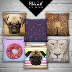 zohra high quality 3d digital printed custom pillowcases animal head sweet hearts fullprint decorative cushion cover