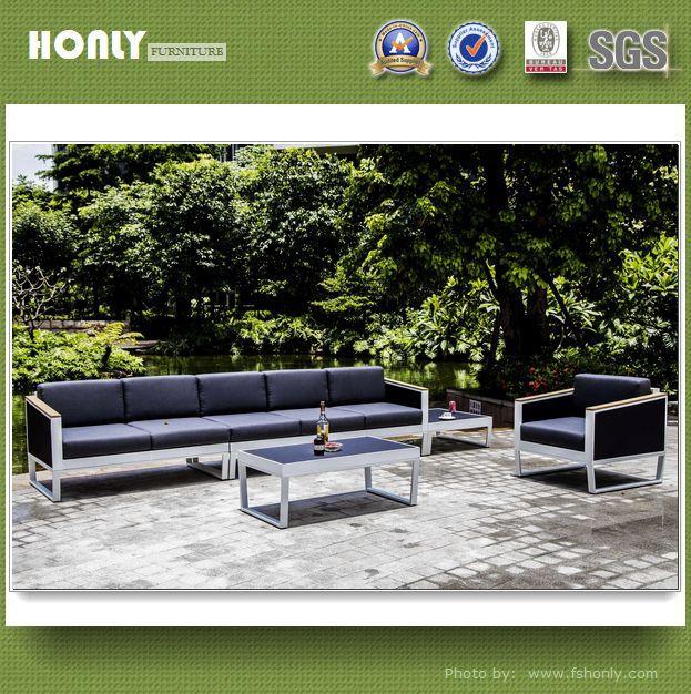 Unique aluminum frame sling outdoor sofa set new designs
