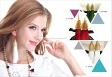 2015 Top grade Anti-allergy stud Earrings with long tassel golden color leaf alloy charm dangling earrings fashion earrings