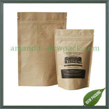 stand up coffee bags laminated aluminum foil kraft paper with valve
