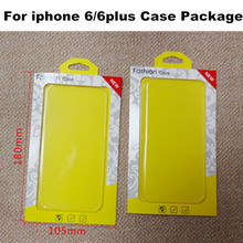 New Fashion Cell Phone Case Retail Package Crystal Clear PVC Packaging for iPhone 6 6Plus Cover Boxes Universal