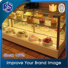 Fashion design durable cake display chiller/glass cake display refrigerator/hot sale bakery refrigerator