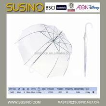 Susino stick auto open transparent POE umbrella