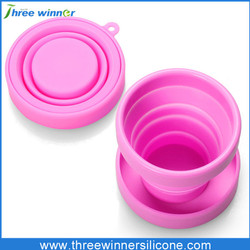 Travel camping silicone folding cup