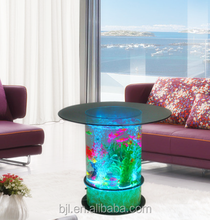 acrylic led furniture water bubble led glass top bar table for bars