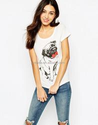 Cotton Woman Print Lovely Animal Dog T Shirt Slim Fit Printing T-Shirt