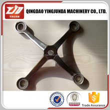 Low MOQ heavy duty glass spider 4 arms fitting