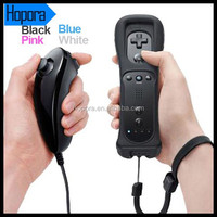 Black Game Controller For Wii Remote and Nunchuck Set With Motion Plus