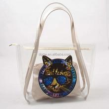 Clear PVC Beach Bag Handbag Clear Plastic Tote Bag with Inner Bag