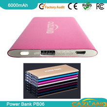 2015 portable 6000mah power bank for samsung galaxy note, macbook pro,ipad