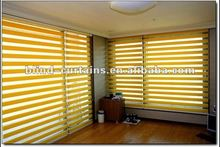 2015 new design double layer zebra roller curtains