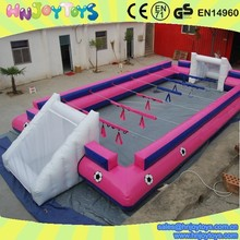 Trade Assurance White Court Pink Human Foosball Inflatable