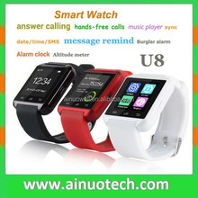 sport water resistant bluetooth smart watch U8 plus wristwatch U8 luxury men watch for smartphones