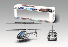Big 4 channel alloy helicopter with LCD screen transmitter RC big 4 channel alloy helicopter RC big 4 channel alloy helicopter