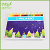 24 color drawing painting pencil box with colorful printing for kids gift