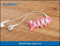 useful and cute cable headset connector novelty silicone cell phone cases